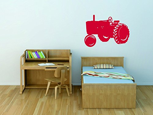 Design with Vinyl SM885-282 As Seen Decor Item Tractor Kids Boys Bed Room Picture Art Peel and Stick Vinyl Wall Decal Sticker, 20-Inch x 30-Inch