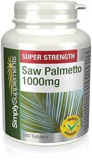 Saw Palmetto 1000mg | 120 Compresse Simply Supplements Per il benessere maschile e femminile SimplySupplements