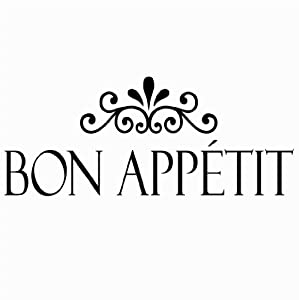 Bon Appetit vinyl kitchen lettering wall sayings home decor art sticker from Wall Sayings Vinyl Lettering