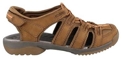 Women's Clarks, Vapor Mist Sandal BROWN SUEDE 6 M
