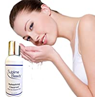 REFRESHING ALOE & GREEN TEA CLEANSER with Lactic Acids, 2 oz. For Freshest Skin; Ideal for Normal, Dry and Aging Skin. Unlimited 100% Customer Satisfaction Guarantee.