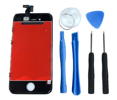 6 pcs - US LCD Touch Screen Digitizer Assembly Replacement for iPhone 4S - Fathers Day