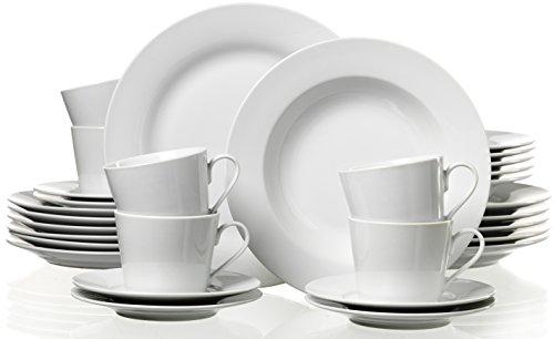 ritzenhoff breker 097252 servizio da tavola coordinato bianco 30 pezzi. Black Bedroom Furniture Sets. Home Design Ideas