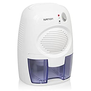 Ivation IVADM10 Powerful Small-Size Thermo-Electric Dehumidifier - Quietly Gathers Up to 6oz. of Water Per Day - Great for Smaller Room, Cupboard, Basement, Attic, Stored Boat, RV, Antique Car