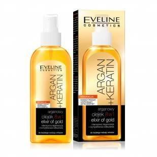 Eveline Argan + Keratin 8-In-1 Hair Oil 5.07 Fl Oz/150 Ml