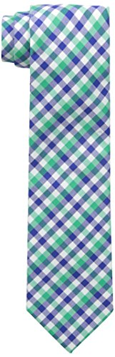 Nautica Men's Spring Nautical Check 2 Tie, Green, One Size
