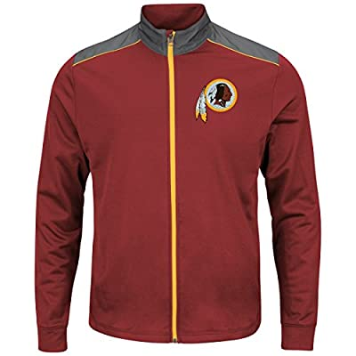 "Washington Redskins Majestic NFL ""Team Tech"" Men's Full Zip Jacket Sweatshirt"