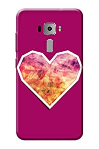 Asus Zenfone 3 KanvasCases Premium Quality Designer Printed 3D Lightweight Slim Matte Finish Hard Case Back Cover for Asus Zenfone 3 ZE552KL ( 5.5 Inch ) + Free Mobile Viewing Stand