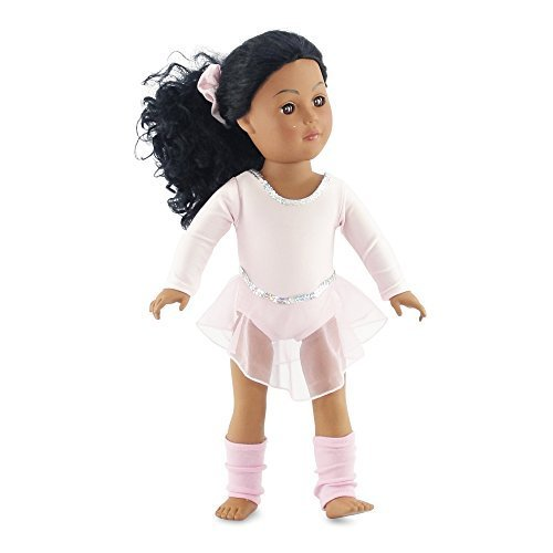 18-Inch-Doll-Champion-Ballet-Skater-Fits-American-Girl-Doll-Skating-Outfit-Ballet-Warm-up