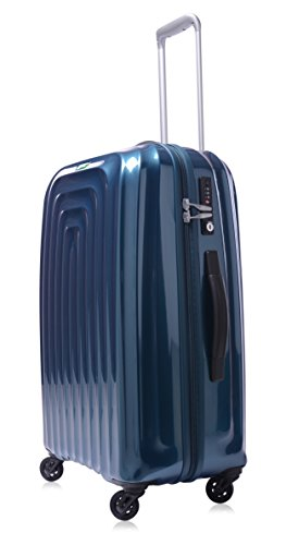 lojel-wave-polycarbonate-medium-upright-spinner-luggage-blue-one-size