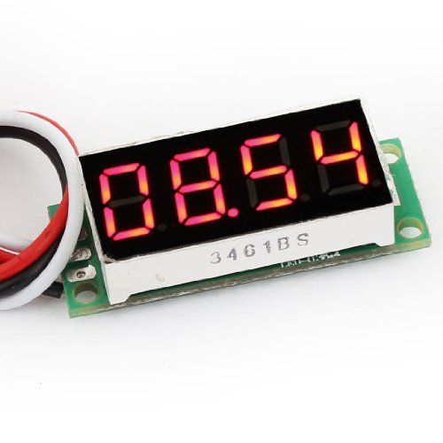 "Dc 0-50V 0.36"" Display 4 Digits 7 Segments 3-Wire Red Led Voltmeter"