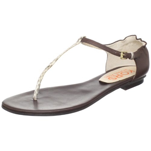 Kors Michael Kors Women'S Zaire T-Strap Sandal,Natural,6 M Us