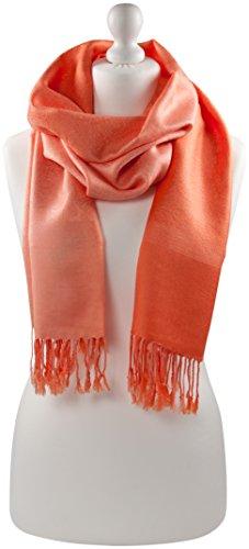 orange-two-tone-design-shawl-pashmina-scarf-wrap-stole-throw-cj-apparel-new