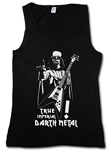 TRUE IMPERIAL DARTH METAL DONNA TOP - Star Dark Vader Wars Music Black Darkthrone Gothic Death Festival Taglie S - XL