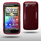 HTC SENSATION / HTC SENSATION XE GEL CASE BY CELLAPOD CASES REDby CELLAPOD