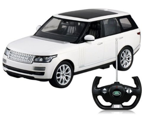 RASTAR 49700 1:14 Scale Authorized Land Rover Range Rover RC Car Model (White) by International (White Range Rover compare prices)