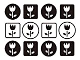 Tulip Garden Border - Reusable Instant Decor Self-Adhesive Matte Vinyl Sticker Decal