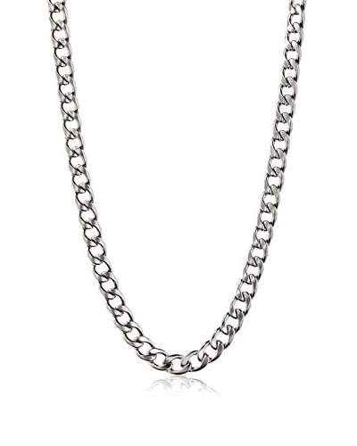Stephen Oliver Silver Cuban Link Necklace