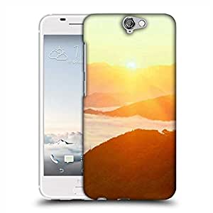 Snoogg Clouds On Hill Top Designer Protective Phone Back Case Cover For HTC one A9