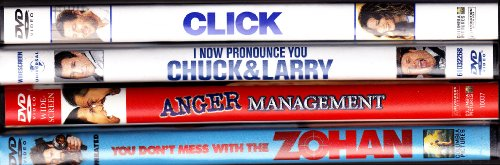 Click , I Now Pronounce You Chuck And Larry , Anger Management, You Dont Mess With The Zohan : Adam Sandler 4 Pack Collection