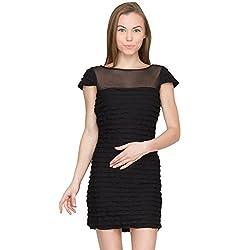 Species Women's Layered Dress (S-711_Black_X-Large)