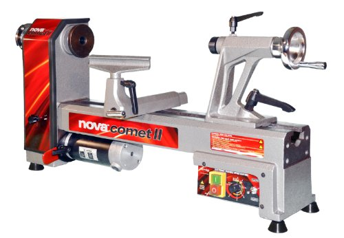 NOVA 46300 Comet II Variable Speed Mini Lathe 2013 Edition, 12-Inch x 16 1/2-Inch, Silver image