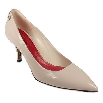 Amazon.com: Cesare Paciotti Women's Cream / Ivory Patent Leather Low