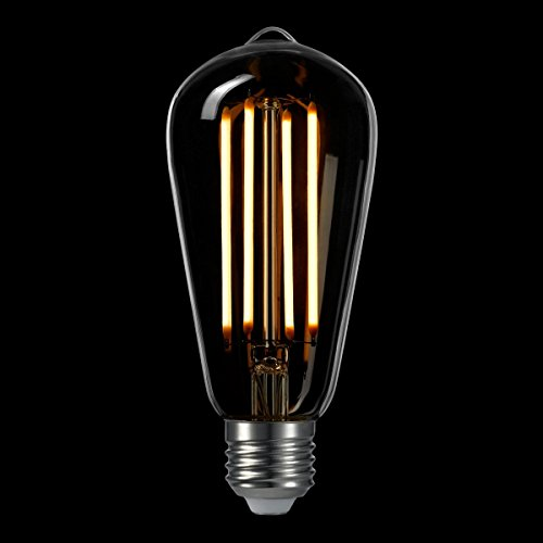 LIGHTSTORY ST18 3W Clear Vintage LED Edison Bulb 40W Equivalent, 2200K, E26 Base, Non-dimmable