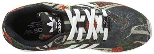 Adidas Originals Women's ZX Flux W Lace-Up Fashion Sneaker, Black/White/Black, 7.5 M US
