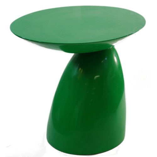 Fine Mod Imports Home Indoor Patio Oval End Side Table Green