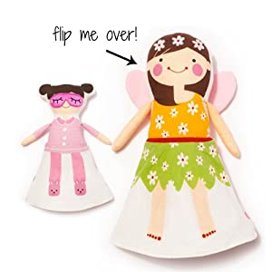 North American Bear Company Sophie and Lili - Lili Fairy Flip Doll