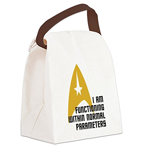 CafePress - Star Trek - Normal Parameters - Canvas Lunch Bag with Strap Handle (Star Trek Lunch Box compare prices)