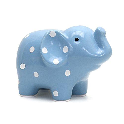 Child to Cherish Polka Dot Elephant Toy Bank, Blue