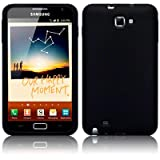 SAMSUNG GALAXY NOTE SILICONE SKIN CASE / COVER / SHELL - BLACKby TERRAPIN