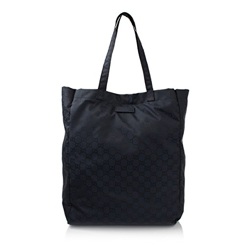Gucci Mama's Bag 281487 Navy Nylon Gg Logo Tote Bag - 1