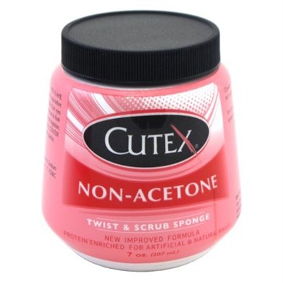 Cutex 7oz Non-Acetone Jar Twist & Scrub Sponge