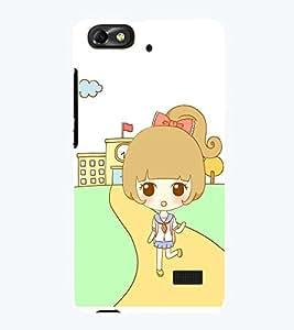 Printvisa Premium Back Cover Sweet Girl Back From School Design For Huawei Honor 4C::Huawei G Play Mini