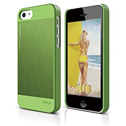 elago S5C Outfit Morph MX Aluminum and Polycarbonate Dual Case for the iPhone 5C - eco friendly Retail Packaging (Green / Green)