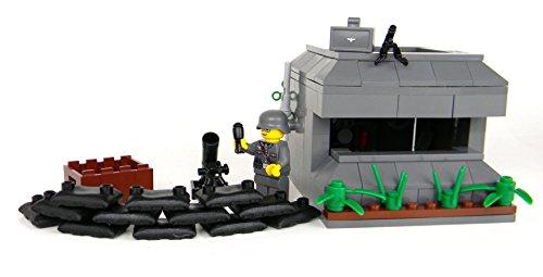 German WW2 Bunker - Battle Brick Custom Set (Lego World War 2 Sets compare prices)