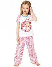 Emily Button™ Pure Cotton Floral Pyjamas