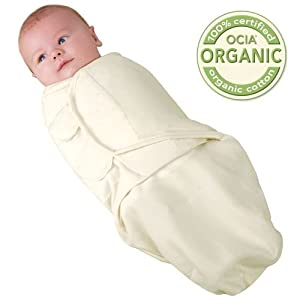 Kiddopotamus & Co. Organic Cotton SwaddleMe - Ivory