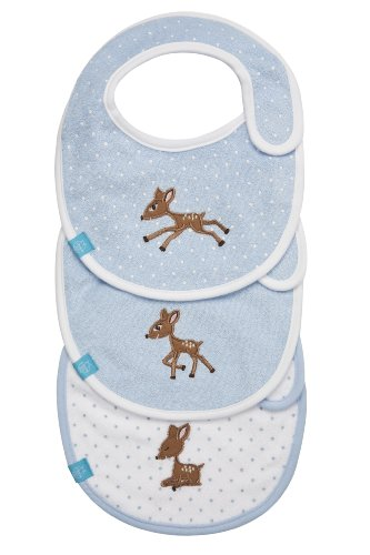 Lassig Lela The Fawn Bib Value Assortment Pack, Light Blue