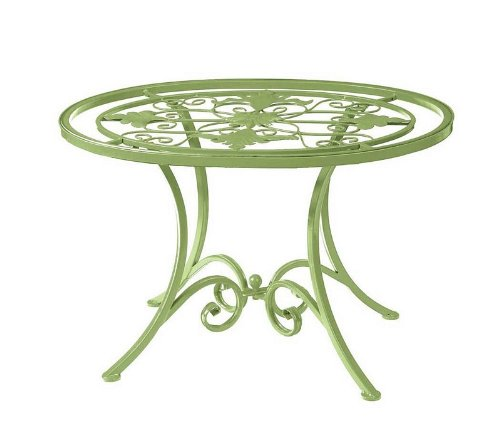 Cheap Garden Accent End Table Grill Center Glass Top in Lime Finish (B003BNNJAQ)