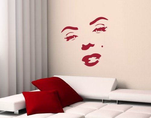 Best Quality Vinyl Wall Sticker Decals - Marilyn Monroe ( Size: 12in x 12in - Color: black ) - No: 1127