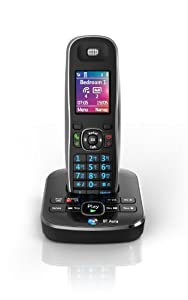 BT Aura 1500 Single Digital Cordless Phone with Answering Machine - Black /Chrome