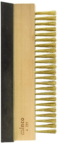 Winco BR-10 Brass Wire Oven Bristle Brush with Metal Scraper (Oven Brush And Scraper compare prices)