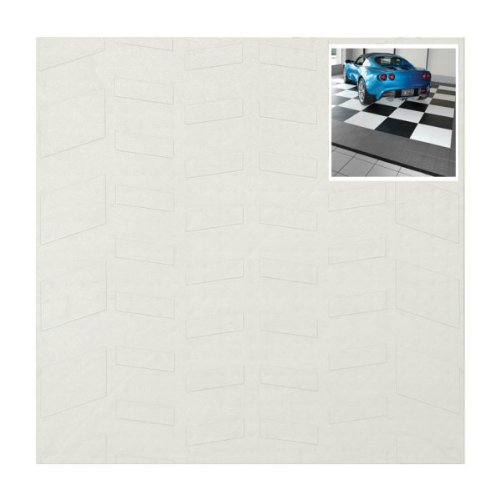 Set of 40 Tire-Tread Pattern Style Tiles (White) (0.5