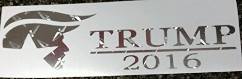 [Premium Diamond plate Donald Trump for President 2016 sticker] (Bellboy Costumes)