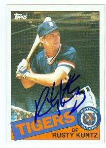 Rusty Kuntz autographed Baseball Card (Detroit Tigers) 1985 Topps #73