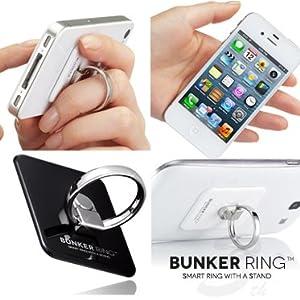 New Bunker Ring 3 Mirror Silve 【全4色】 iPhone5/iPhone4S/iPad mini/iPad2/iPad/iPod/GALAXY Slll スマートフォン・タブレットPCの落下防止・スタンド機能・指1本で保持 【正規輸入品・日本語使用案内付】UDBR3SL003